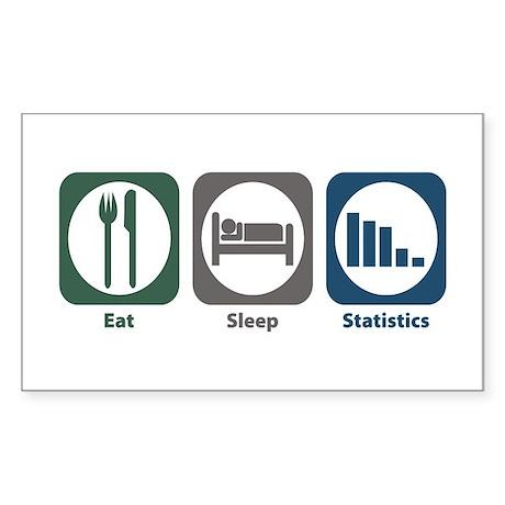 Eat Sleep Statistics Rectangle Sticker