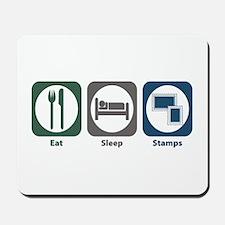 Eat Sleep Stamps Mousepad