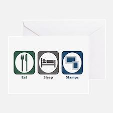 Eat Sleep Stamps Greeting Card