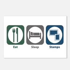 Eat Sleep Stamps Postcards (Package of 8)