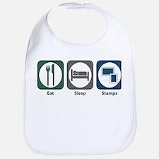 Eat Sleep Stamps Bib