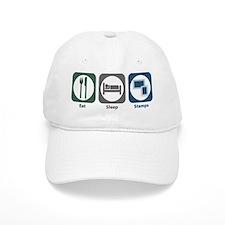 Eat Sleep Stamps Baseball Cap