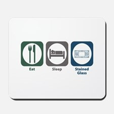 Eat Sleep Stained Glass Mousepad
