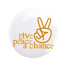 """Give Peace a Chance - Hand Sign - Orange 3.5"""""""