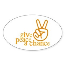 Give Peace a Chance - Hand Sign - Orange Decal