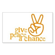 Give Peace a Chance - Hand Sign - Orange Stickers