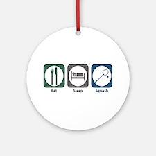 Eat Sleep Squash Ornament (Round)