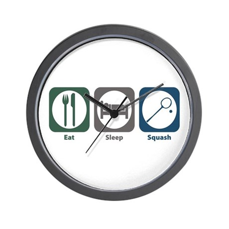 Eat Sleep Squash Wall Clock
