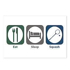 Eat Sleep Squash Postcards (Package of 8)