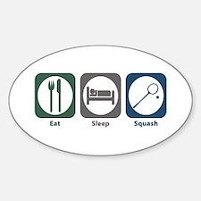 Eat Sleep Squash Oval Decal