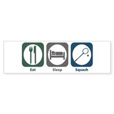 Eat Sleep Squash Bumper Bumper Sticker