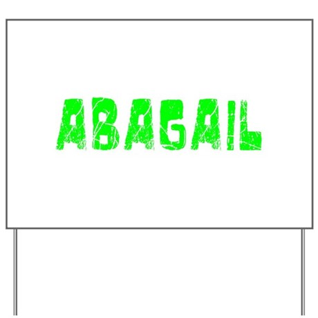 Abagail Faded (Green) Yard Sign