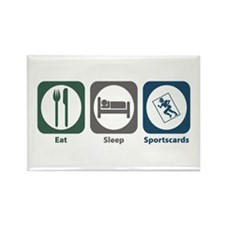 Eat Sleep Sportscards Rectangle Magnet