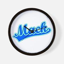 Retro Mack (Blue) Wall Clock