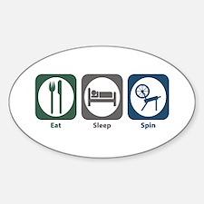 Eat Sleep Spin Oval Decal
