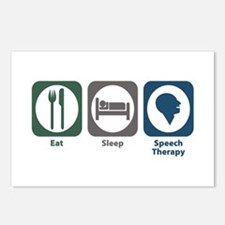 Eat Sleep Speech Therapy Postcards (Package of 8)