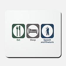 Eat Sleep Speech and Rhetorical Studies Mousepad