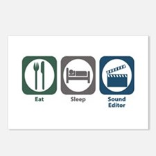 Eat Sleep Sound Editor Postcards (Package of 8)