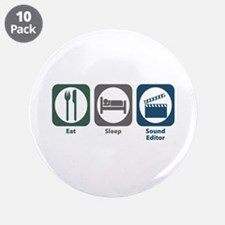 "Eat Sleep Sound Editor 3.5"" Button (10 pack)"