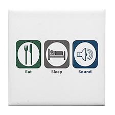 Eat Sleep Sound Tile Coaster