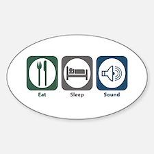 Eat Sleep Sound Oval Decal