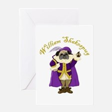 William Shakespug Greeting Card