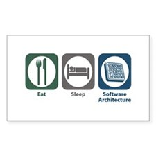 Eat Sleep Software Architecture Decal