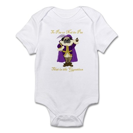 To Pee or Not To Pee Shakespu Infant Bodysuit