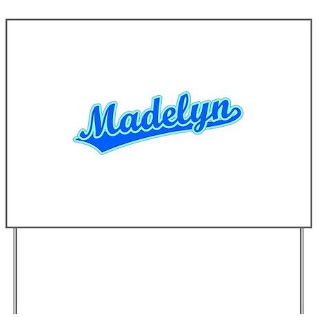 Retro Madelyn (Blue) Yard Sign