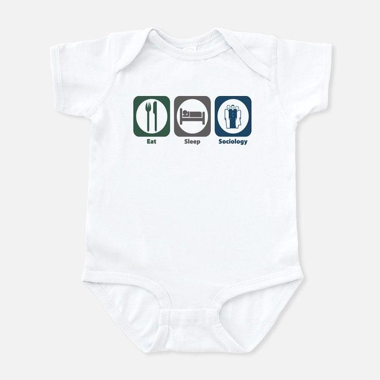 Eat Sleep Sociology Infant Bodysuit