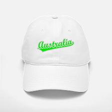 Retro Australia (Green) Baseball Baseball Cap