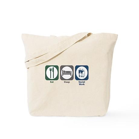 Eat Sleep Social Work Tote Bag