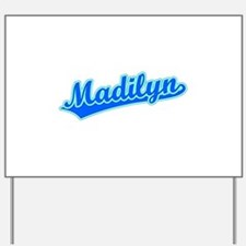 Retro Madilyn (Blue) Yard Sign