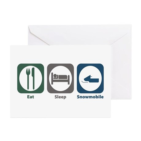 Eat Sleep Snowmobile Greeting Cards (Pk of 10)