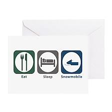 Eat Sleep Snowmobile Greeting Card