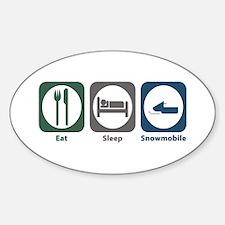 Eat Sleep Snowmobile Oval Bumper Stickers