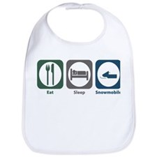 Eat Sleep Snowmobile Bib