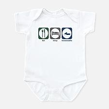 Eat Sleep Snowmobile Infant Bodysuit