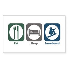 Eat Sleep Snowboard Rectangle Decal
