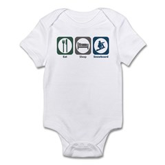 Eat Sleep Snowboard Infant Bodysuit