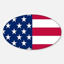 STARS & STRIPES Oval Decal