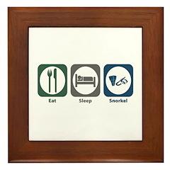Eat Sleep Snorkel Framed Tile