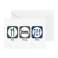 Eat Sleep Slots Greeting Cards (Pk of 20)