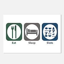 Eat Sleep Slots Postcards (Package of 8)