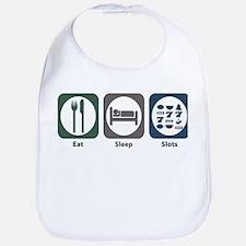 Eat Sleep Slots Bib