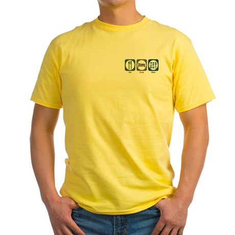Eat Sleep Slots Yellow T-Shirt