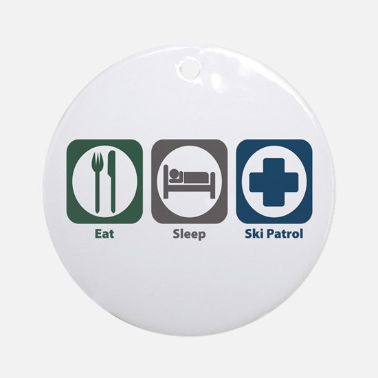 Eat Sleep Ski Patrol Ornament (Round)