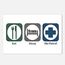 Eat Sleep Ski Patrol Postcards (Package of 8)