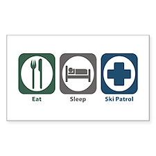 Eat Sleep Ski Patrol Rectangle Decal