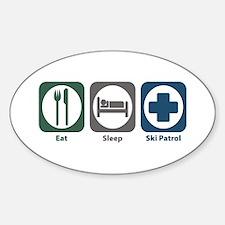 Eat Sleep Ski Patrol Oval Decal